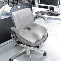 Memory Foam Seat Cushion Lumbar Back Support Orthopedic Pad