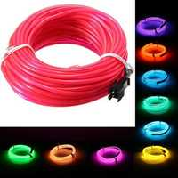 10M EL Led Flexible Soft Tube Wire Neon Glow Car Rope Strip Light Xmas Decor DC 12V