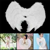 Feather Angel Wing Fancy Dress Accessories Chirstmas Stage Performance Decor