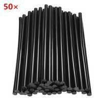 50pcs 11mm×270mm Black Hot Melt Glue Crafting Models Repair Sticks