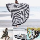 Les plus populaires Honana WX-992 150cm Bohemian Style Thin Tassel Beach Towel Mandala Round Silk Scarf Bed Sheet Tapestry