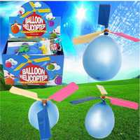 20PCS Wholesale Colorful Traditional Classic Balloon Helicopter Portable Flying Toy