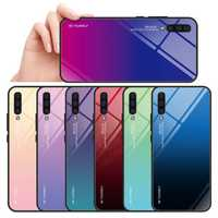 Bakeey Gradient Tempered Glass Protective Case For Samsung Galaxy A70 2019 Scratch Resistant Back Cover