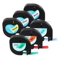 LT 91201/91200/12267 Label Tape Compatible For Dymo LetraTag 12mmx4m Cassette