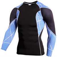 PRO Men's Sports Tights Breathable Tops Casual Quick Drying Fitness Running Sports Long Sleeve T-shi