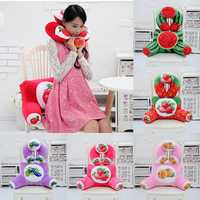 Plush Squishy 3D Fruit Printing U Shape Neck Pillow Waist Back Cushion Sofa Bed Office Car Chair Decor