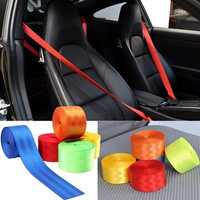 380cmX4.8cm Retractable 3 Bolt Point Front Car Seat Belt Safety Strap
