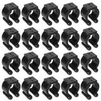 ZANLURE 20pcs Plastic Fishing Lever Pole Storage Tip Clips Positioning Clamp Black