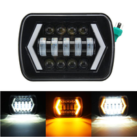 7x6 5X7 55W H4 LED Headlights DRL 1PCS for Jeep/Cherokee XJ/Wrangler YJ/Toyota Pickup