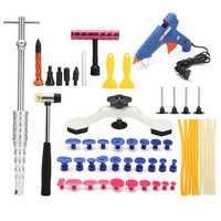 47PCS Car Repairing Paintless Hail Repair Dent Puller Lifter PDR Tools Auto Body Removal Kit