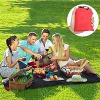 Honana HN-PB007 150cm Foldable Outdooors Playmat Travel Pocket Blanket Light Weight Portable Beach Picnic Mat