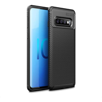 Bakeey Protective Case For Samsung Galaxy S10 Plus 6.4 Inch Slim Carbon Fiber Fingerprint Resistant Soft TPU Back Cover