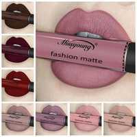 Missyoung Matte Lip Gloss Lips Lipstick Long Lasting Liquid Cosmetics Exaggerated Makeup