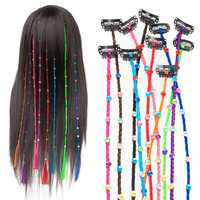 55cm Colourful Diamond Synthetic Fiber Hair Braid Extensions