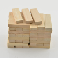 48Pcs Wood Block Carving Natural Wooden 51x16x9mm DIY Model Building Crafts Making Decorations