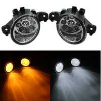 Pair 6W Car Front Fog Lights with H11 bulb for Nissan Altima Maxima Rogue Sentra Yellow/White