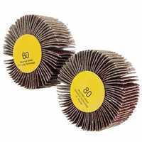 60/80 Grit 6mm Shank Flap Wheel Disc Sanding Abrasive Grinding Wheel for Rotary Tool