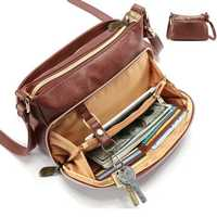 Brenice Women Multi-pocket Solid Faux Leather Crossbody Bag