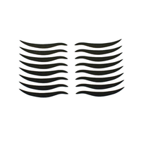 LuckyFine 8 Pairs Black Eyeliner Double Eyelid Sticker Cat's Eyes Liner Tattoo Invisible Makeup