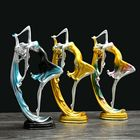 Meilleurs prix Elegant Dancing Girl Decoration Resin Art Deco Sculpture Abstract Statue Decorations