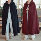 Acheter Vintage Hooded Cloak Loose Long Cape Coats Cosplay Costume