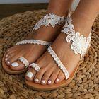 Meilleurs prix Women Bohemia Toe Ring Slip On Casual Summer Flat Sandals