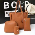 Meilleurs prix 4 PCS Handbags Tassel Shoulder Bags Elegant Clutches Bags Wallets Card Holder