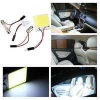 48 LED Chip COB T10 BA9S Festoon Dome White Interior Light Panel Car Bulb Lamp