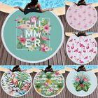 Meilleurs prix Fashion Flamingo Round Beach Towel With Tassels Microfiber 150cm Picnic Blanket Beach Cover Up