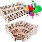 Bon prix Wooden Pigment Bottle Storage Organizer 74/81 Bottles Color Paint Ink Brush Stand Rack Modular Holde