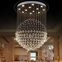 LED Modern Silver Chrome Acrylic Crystal Ceiling Light Pendant Light Chandelier Home Decor