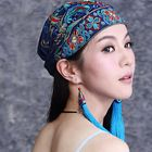 Prix de gros Women Ethnic Flowers Embroidery Beanie Hat