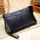 Promotion Men Genuine Leather Large Capacity Multi-functional Business Vintage Phone Bag Clutch Bag
