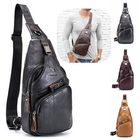 Meilleur prix Bullcaptain Genuine Leather Retro Chest Bag Outdoor Leisure Daypack Crossbody Bag for Men