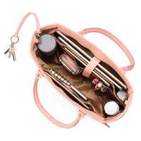 Brenice Women Casual Shopping Handbag Solid Shoulder Bag