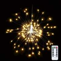 USB Powered 8 Mode 150 LED DIY Firework Starburst Fairy String Light Remote Control Christmas Decor