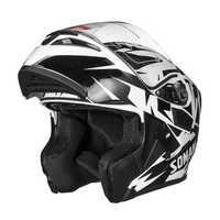 Universal Flip Up Crash Helmet Motorcycle Motorbike Scooter Dual Visor Full Face Helmet
