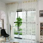 Meilleurs prix 2 Panel Grid Pattern Tulle Sheer Curtains Bedroom Living Room Hollow Out Window Screening