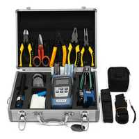 25PCS Optic Fiber FTTH Tool Kit Fiber Cleaver & FC-6S Optical Power Meter W/Box Repair Tool