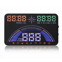 S7 5.8 Inch Car HUD Head Up Display OBD Km/h&MPH GPS Speeding Warning