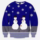 Discount pas cher Mens Christmas Snowman 3D Printing Sweatshirt Festive Personality Funny Sweatshirt