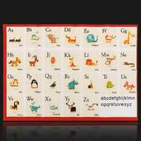 Children Education Alphabet Animal Kids Learning English Teach Silk Cloth Poster Toys