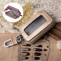 Men And Women Genuine Leather Car Key Holder Key Bag