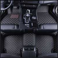 Right Hand Car Floor Flash Mat Leather for Bmw 3 Series E90 Sedan 2005-2013 Custom Auto Pads Carpet Cover