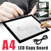 A4 Digital Drawing Graphic Tablet LED Light Box Tracing Copy Board Painting Writing Table for Drawing Sign Display