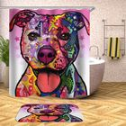 Bon prix 180 x 180CM Bathroom Shower Curtain Graffiti Dog Pattern Print Waterproof Polyester Shower Curtain