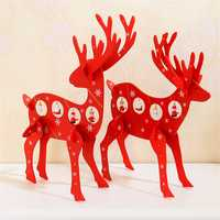 Christmas 2017 Deer Elk Wood Table Desktop Decoration Gift Mini Ornament Christmas Gifts