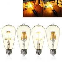 E27 ST64 8W Clear Cover Dimmable Edison Retro Vintage Filament COB LED Bulb Light Lamp AC110/220V