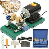 Drillpro 280W 220V Mini Beads Drilling Machine Drills Hole Punch DIY Beads Making Tool