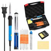 Electric Soldering Iron Kit 60W Adjustable Temperature Soldering Full Set